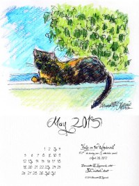 """Kelly on the Windowsill"" desktop calendar, for 600 x 800 for iPad, Kindle and other readers."