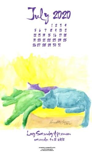 Desktop calendar, for 400 x 712 for mobile phones