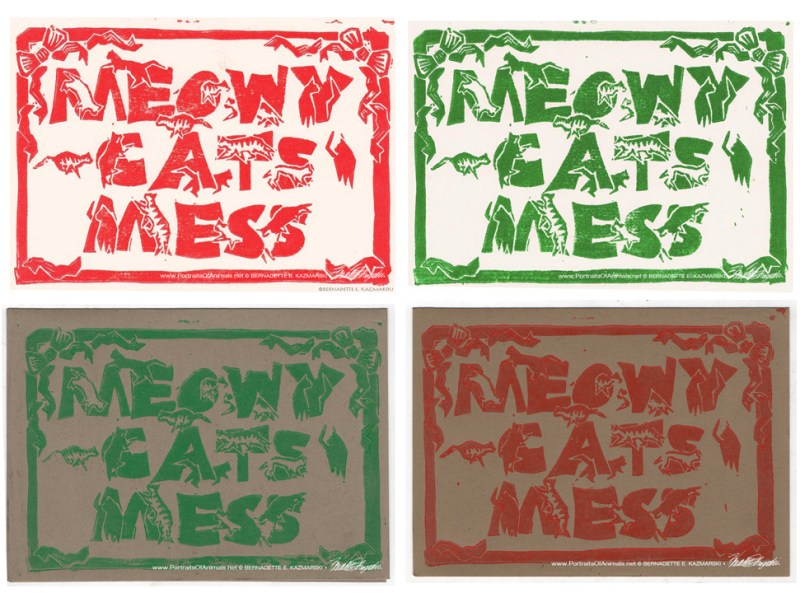 Meowy Cat's Mess cards!