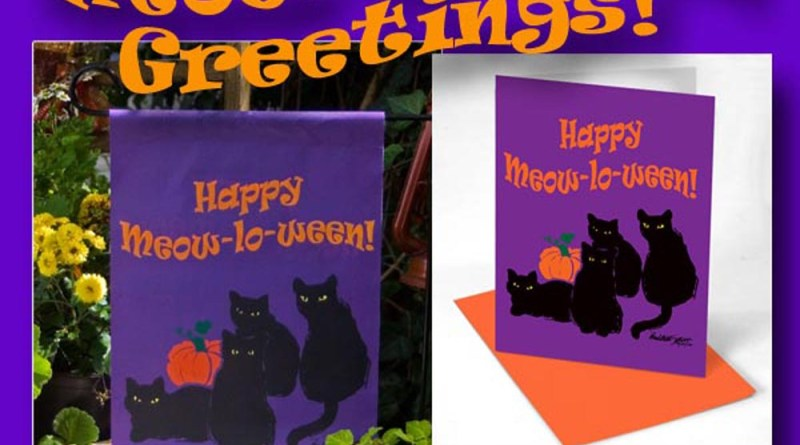 halloween black cat decorations