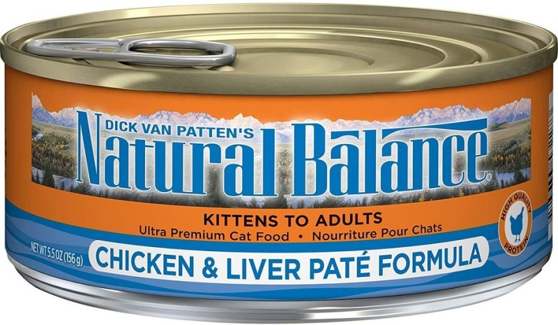 One Lot of Natural Balance® Ultra Premium Chicken & Liver Paté Formula Canned Cat Food Recalled