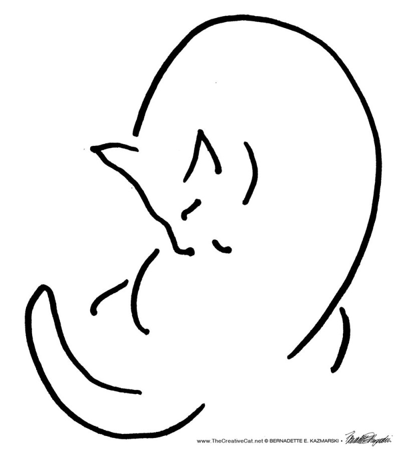The original minimal cat sketch.