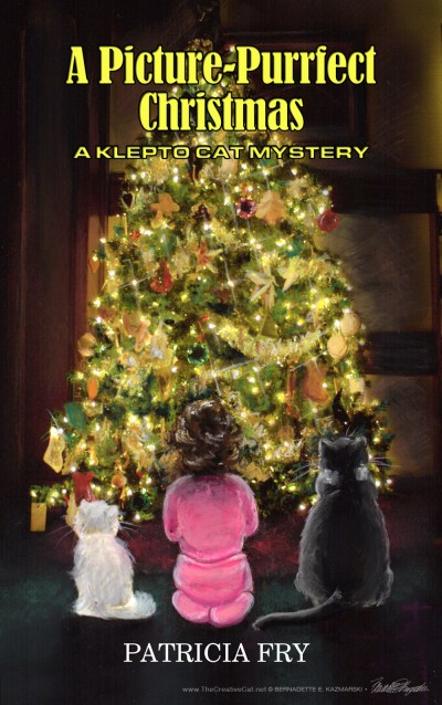 """A Picture Purrfect Christmas"" klepto cat mystery by patricia fry"