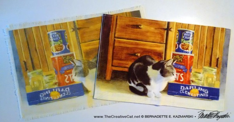 placemats with cat artwork