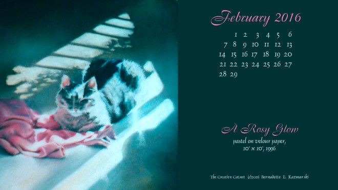 """A Rosy Glow"" desktop calendar 2560 x 1440 for HD and wide screens."