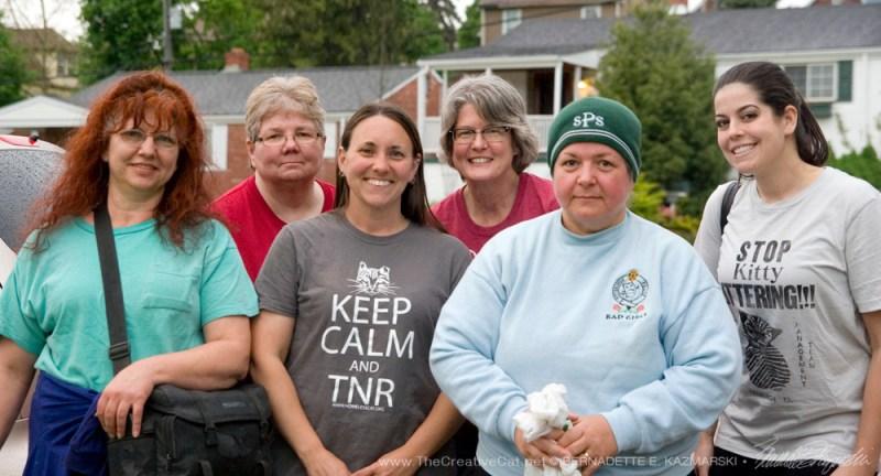 The second group: me, Karen Sable, Deana Ann Boggs, Mary Kay Gentert, Officer Tracy Schweitzer, Tarra Provident.
