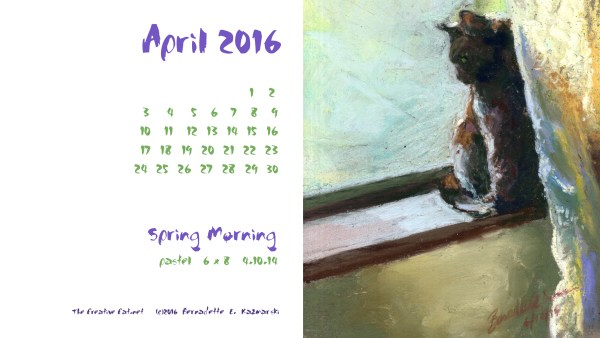 """""""Spring Morning"""" desktop calendar 2560 x 1440 for HD and wide screens."""