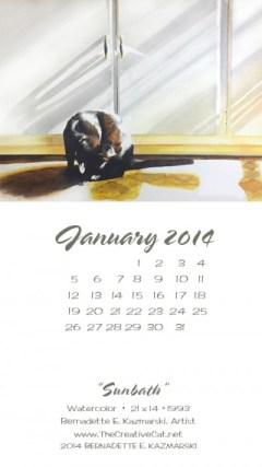 """Sunbath"" desktop calendar for larger mobile devices."
