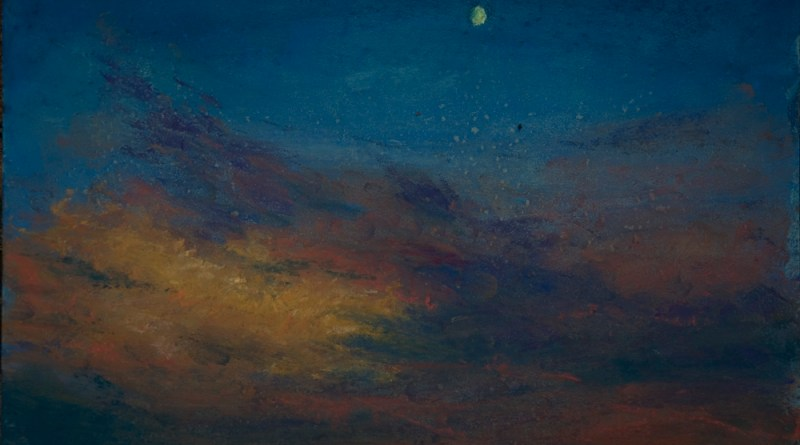 Sunset, Moonset, pastel on self-prepared board, 8 x 11 © Bernadette E. Kazmarski