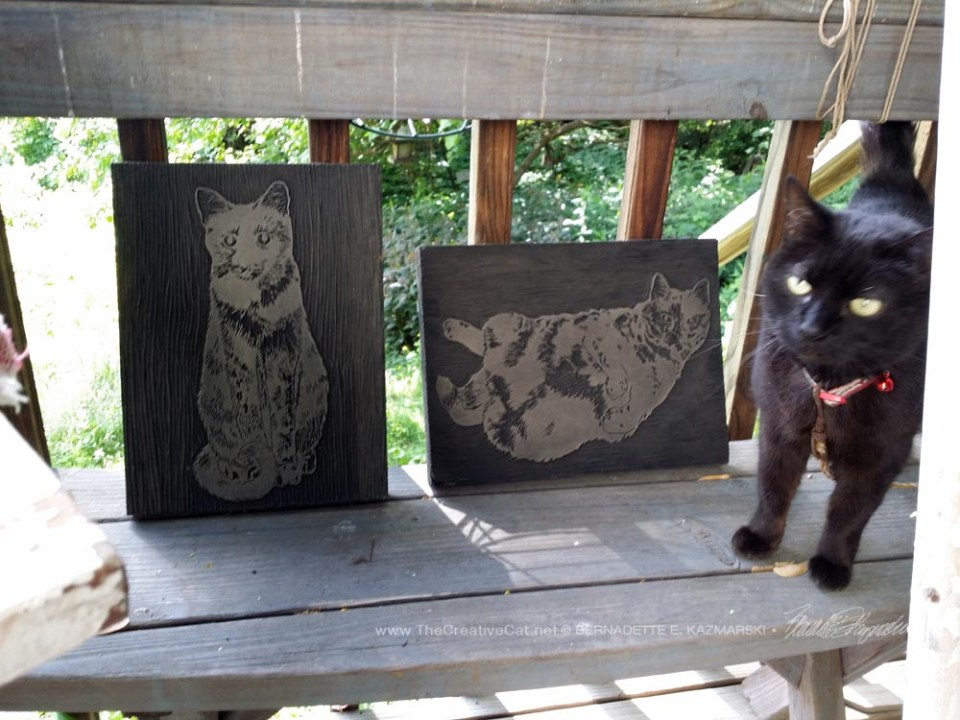 """""""Those are my fur sisters' images, take care of them!"""" Mimi says."""