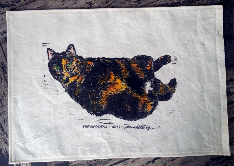 Tortie Girls placemats, The Goddess.