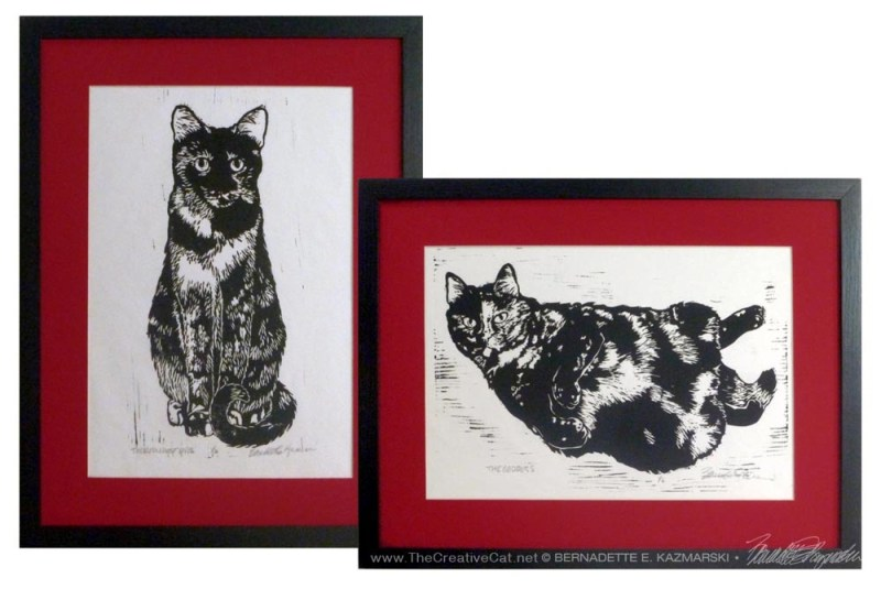 Tortie Girls in red and black!