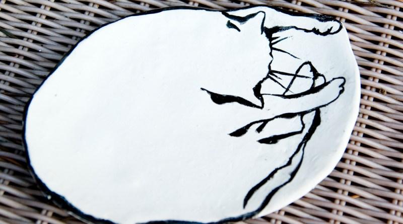 """The Big Nap"" 5 x 6.5 trinket dish."