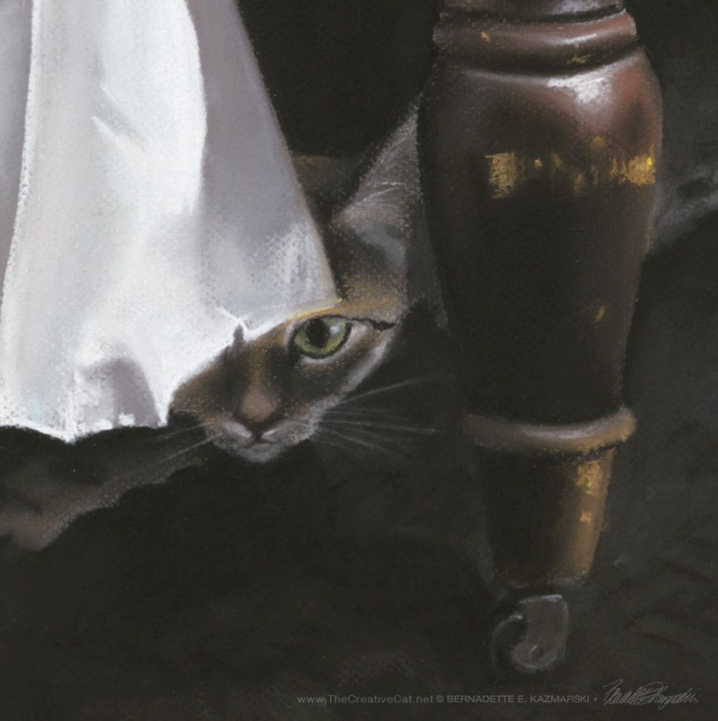 """Waiting for Mom"" pastel detail."