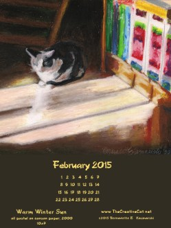 """""""Warm Winter Sun"""" desktop calendar, for 600 x 800 for iPad, Kindle and other readers"""