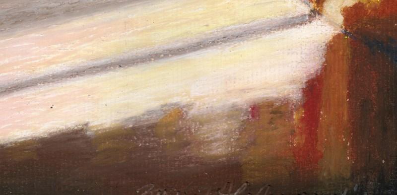 oil pastel painting of cat
