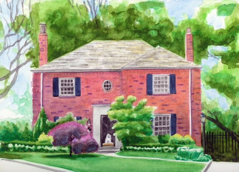 painting of house
