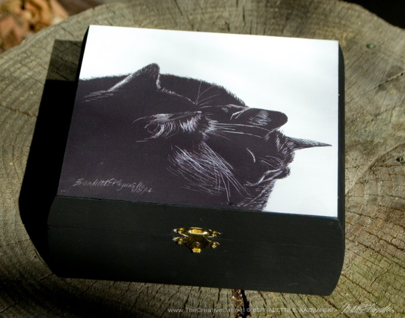 """Black and Light"" keepsake box."