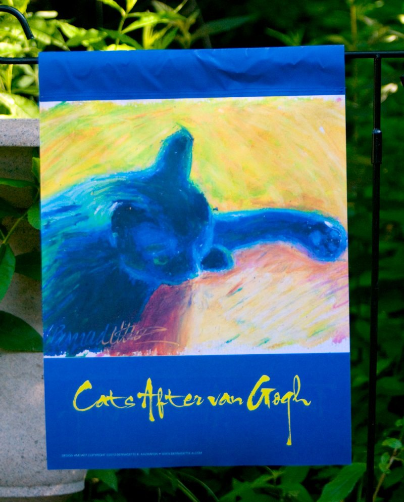 """Cats After van Gogh: In Window Light"" garden flag"