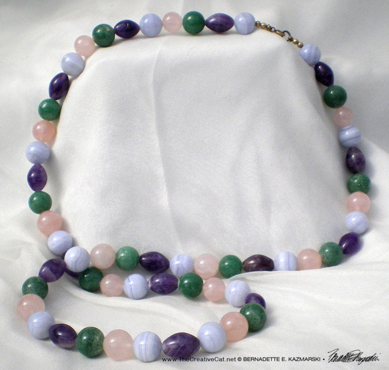 A photo of a jade necklace I'd taken for a customer's website.