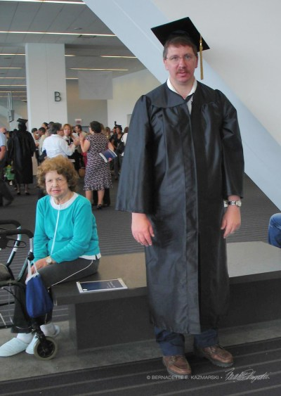 Mark and our mother when Mark graduated from a special training at Community College of Allegheny County in 2007.