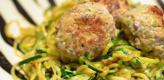 Coughetti and Curried Meatballs
