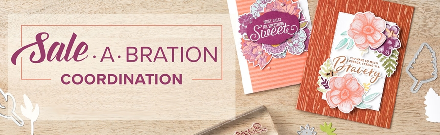 Stampin' Up!'s happiest time of the year just got a whole lot happier with the release of SIX new Sale-a-Bration Coordination products that are designed to take your Sale-A-Bration creations to the next level #saleabration #stampinup #nomorefussycutting #papercraft #handmadecards