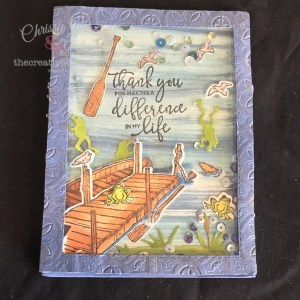 Shake it up with this By The Dock Shaker Card #shakercard #handmadecard #ByTheDock #stampinup