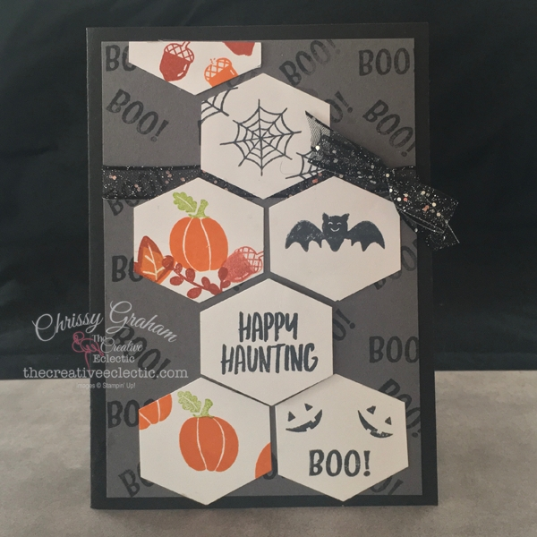Happy Haunting - Create a super cute Halloween Card with Stampin' Up!'s Banner Year Stamp set and a few basic supplies. #stampinup #papercraft #handmadecards #thecreativeeclectic #rubberstamping #cardmaking