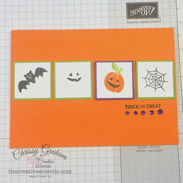 It's just 18 days until Halloween.Time to get started on your spooky creations. Here's how you can make an easy card with just a few supplies. #cardmaking #handmadecards #stampinup #banneryear #rubberstamping #papercraft #makeacard #simplestamping