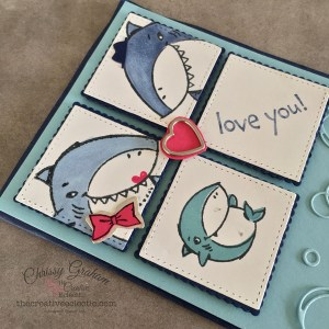 Say I love you with the Shark Frenzy Bundle - it's is so versatile - here's an a little card I created with the bundle #sharkWeek #babyshark #sharkfrenzy #stampinup #handmadecards #cardmaking #papercraft #iloveyoucards #valentinesfor kids #makeacardSendacard #ChrissyGraham #stampinup #thecreativeEclectic