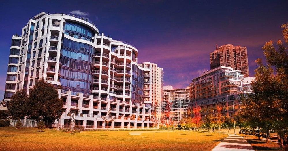 Urban Condominium Park - Stock Photo