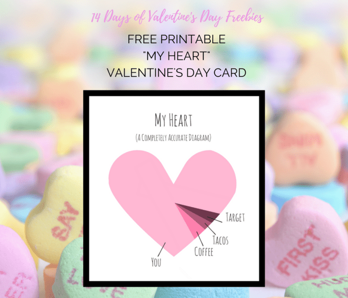 My Heart Printable Valentine's Card