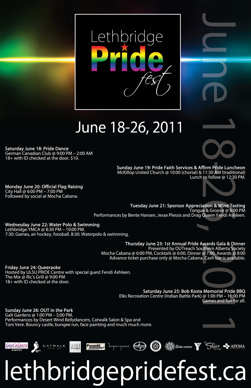 Lethbridge Pride Festival Events Poster