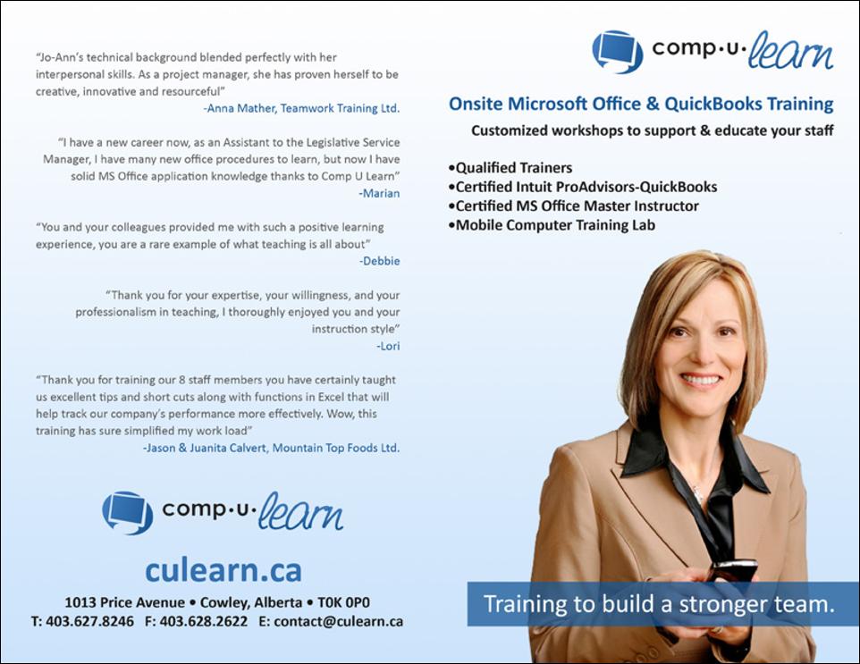 - Comp U Learn Marketing Book - Covers
