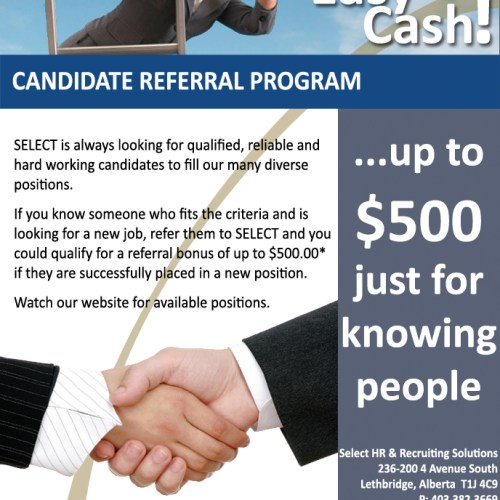 Select People Solutions Referral Program Ad