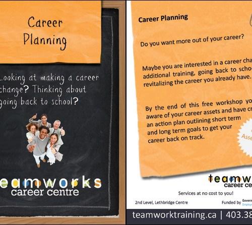 Teamworks Postcard - Career Planning (3 of 5) Front & Back
