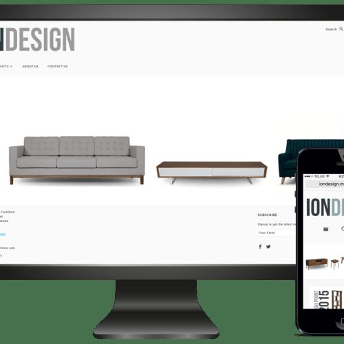 Ion Design Ecommerce Website