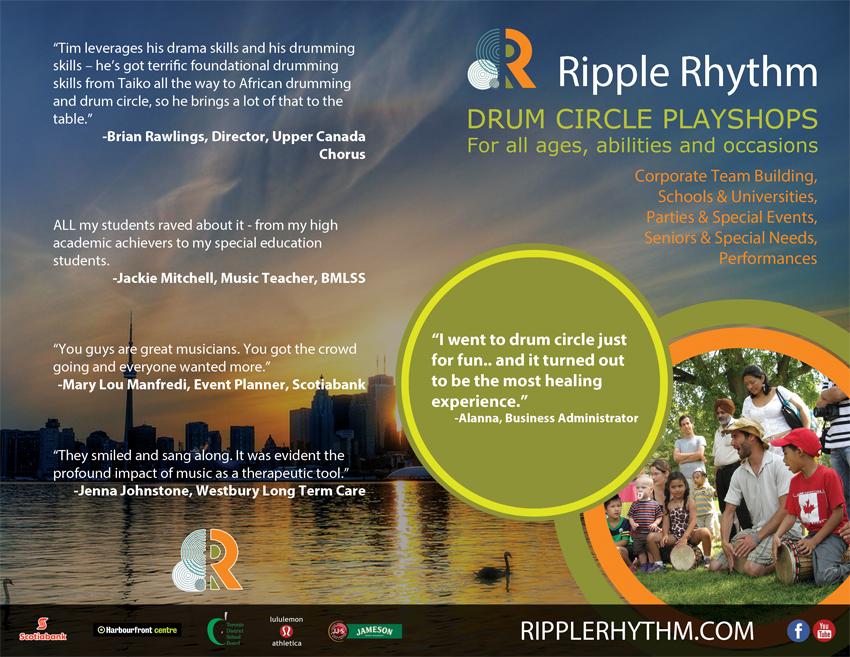 Ripple Rhythm Marketing Brochure Covers