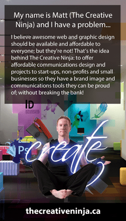 The Creative Ninja Business Card Front