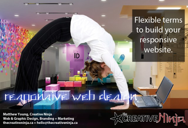 The Creative Ninja - Responsive Web Design Ad