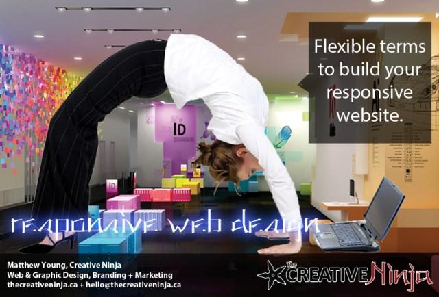 The Creative Ninja - Responsive Web Design Ad