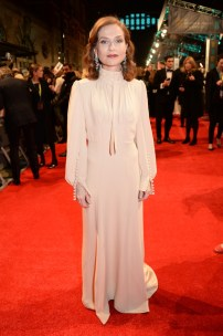 Mandatory Credit: Photo by Richard Young/REX/Shutterstock (8343326bd) Isabelle Huppert EE BAFTA British Academy Film Awards, Arrivals, Royal Albert Hall, London, UK - 12 Feb 2017
