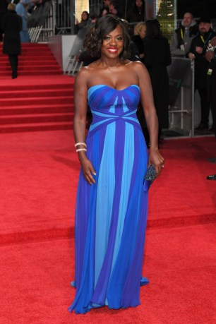 Mandatory Credit: Photo by David Fisher/REX/Shutterstock (8343328ad) Viola Davis EE BAFTA British Academy Film Awards, Arrivals, Royal Albert Hall, London, UK - 12 Feb 2017