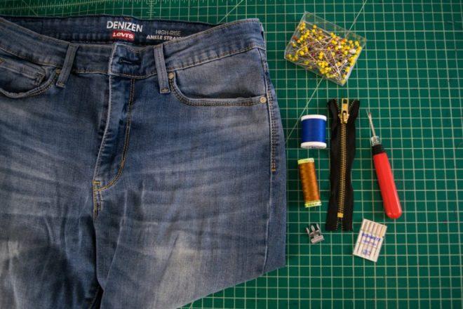 Replacing a Broken Jeans Zipper - Sewing Tutorial