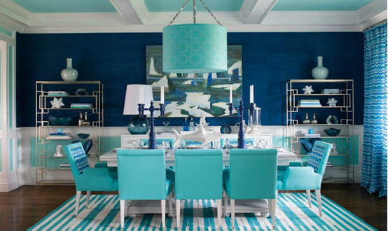 4 Ways To Get The Look Of The Hamptons Decor Turquoise Aqua Navy Blue