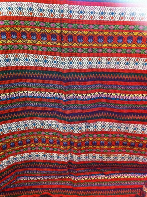 Roughly 2.5 yards of handmade fabric from Guatemala $8