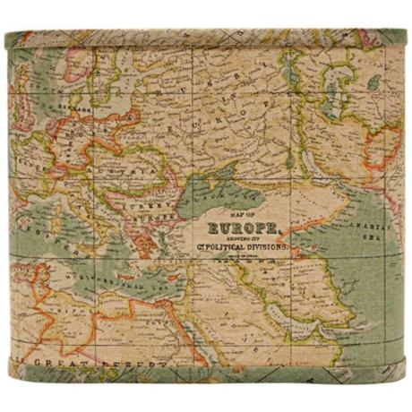 Map Covered Lamp Shade $59.91