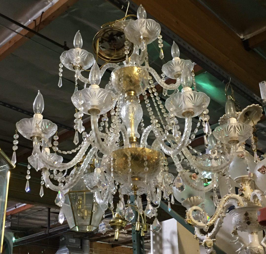 A fancy schmancy crystal chandelier $90, would anyone's meatloaf taste better!