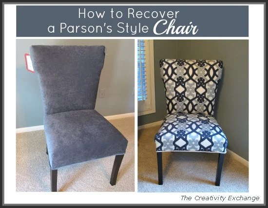 How To Recover A Parson's Style Chair {Furniture Revamp}